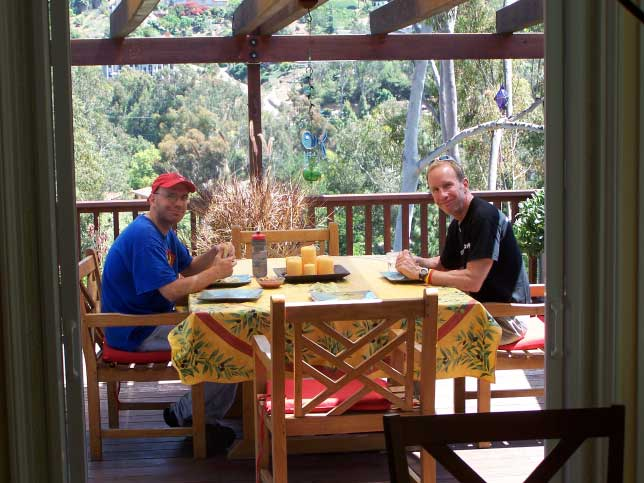 Lou And Bruce Relaxing At Bill Redfield's House In San Diego