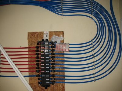 Home improv plumbing rough in for Pex pipe freeze protection